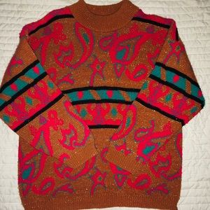 Vintage 1990s Spunky Sweater with glitter